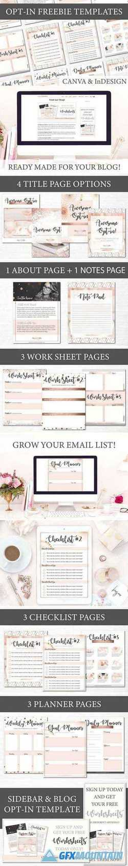 Opt-in Freebie Templates - Rose Gold 2405418