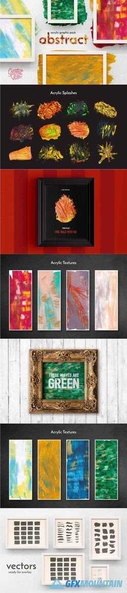 ABSTRACT ACRYLIC GRAPHIC PACK - 2446694