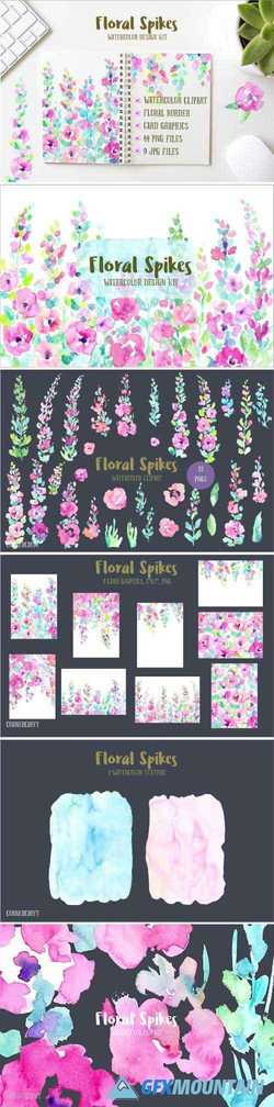 WATERCOLOR DESIGN KIT FLORAL SPIKES - 1602688
