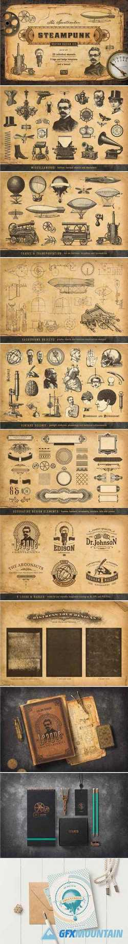 THE STEAMPUNK VECTOR DESIGN KIT - 2356119