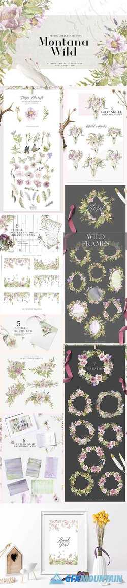 Montana Wild - A Rustic Floral Set 2427298