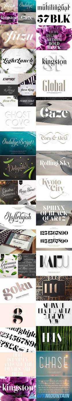 Font Bundle | 25 in 1 1658365