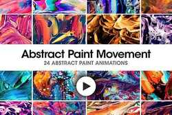 Abstract Paint Movement: 24 Videos - Motion Graphics