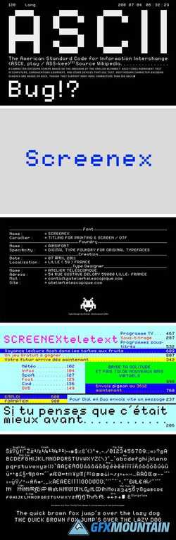 Screenex Font