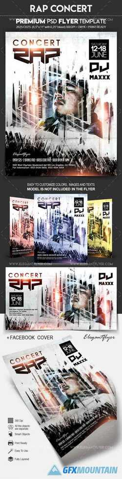 RAP Concert – Flyer PSD Template
