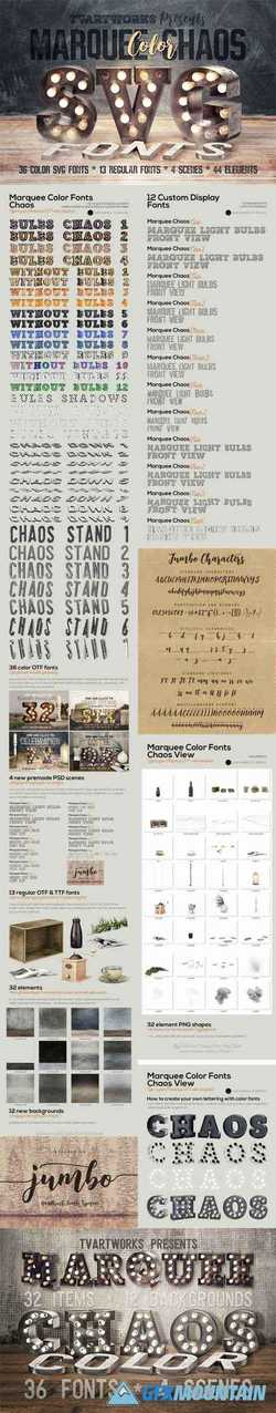 MARQUEE CHAOS VIEW - COLOR FONTS - 2491855