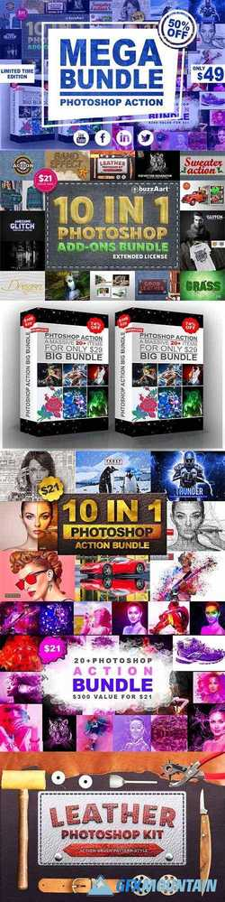 Mega Bundle Photoshop Action 2555731
