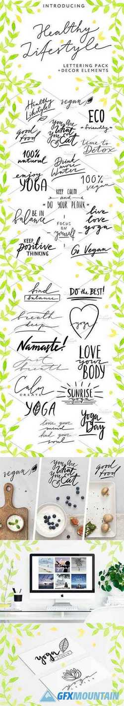 HEALTHY LIFESTYLE - Lettering Pack 2554856