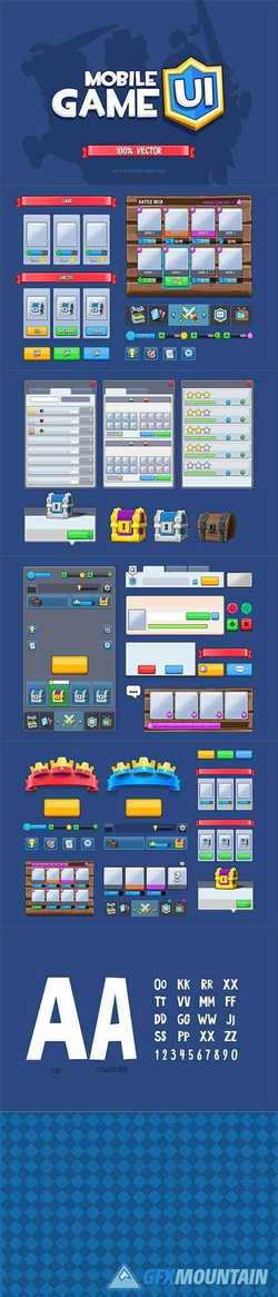 Mobile Game UI 100% Vector 2481628