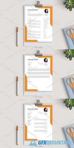 Creative 3-Page Resume in Orange 2582412