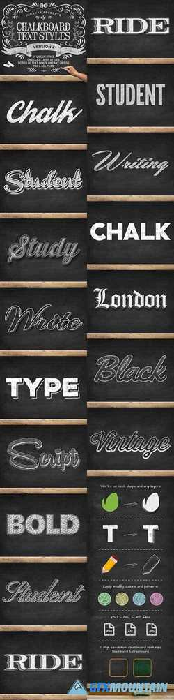 NEW CHALKBOARD TEXT EFFECTS VOL.2 - 9835020