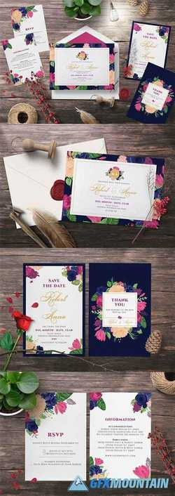 FLOWER WEDDING INVITATION SUITES 2555554