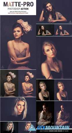 Mattepro Photoshop Action Special Matte Vintage Effects For Portrait Photography 22085159