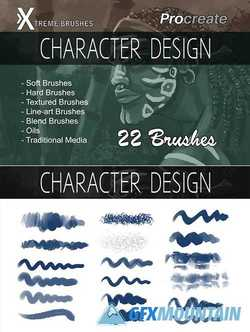 Procreate Character Design Brushes 2609046
