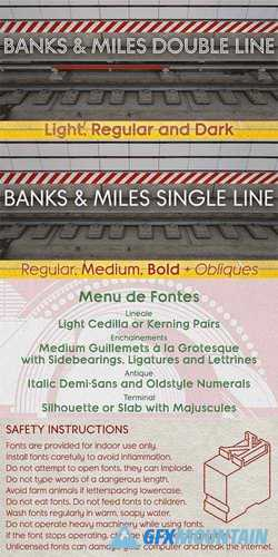 Banks & Miles Font Family