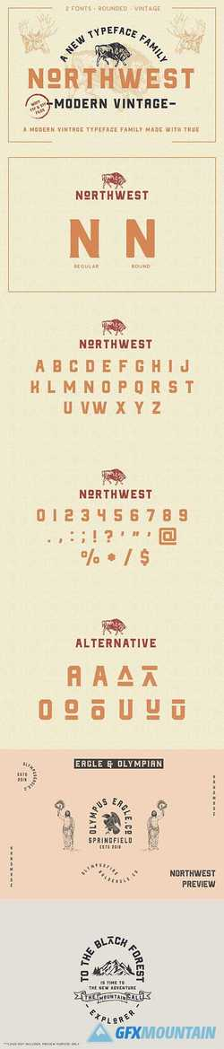 The Northwest - Vintage Type Family 2645473