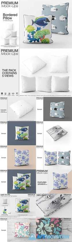 Bordered Square Pillow Mockup Pack 2542012