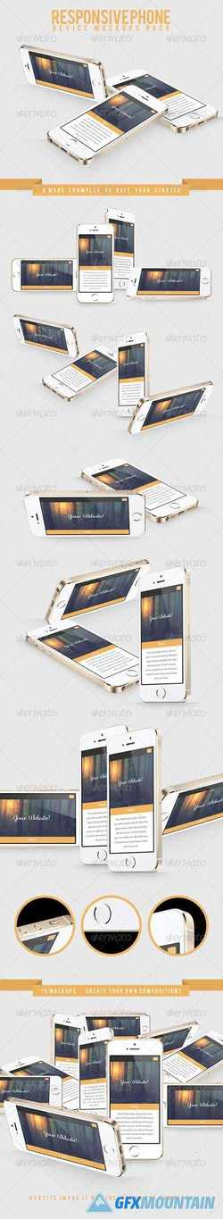 Responsive Phone Device Mockups Pack 7768623