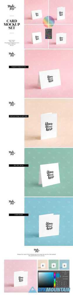 Greeting card mockup set 2544663