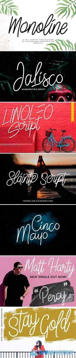 Monoline Script Collection - 3 Fonts 2545135