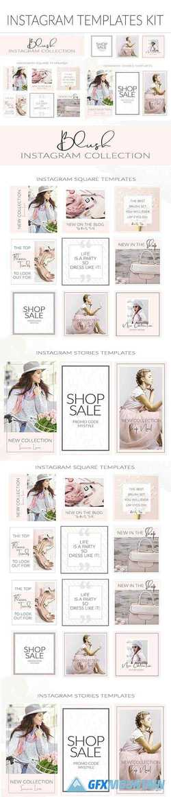 Blush Feminine Instagram Templates