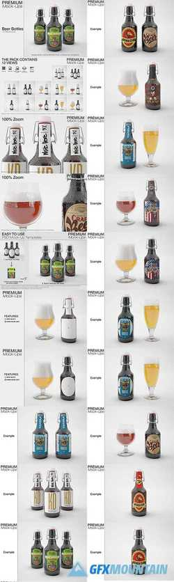Beer Bottle Mockup Pack 2599323