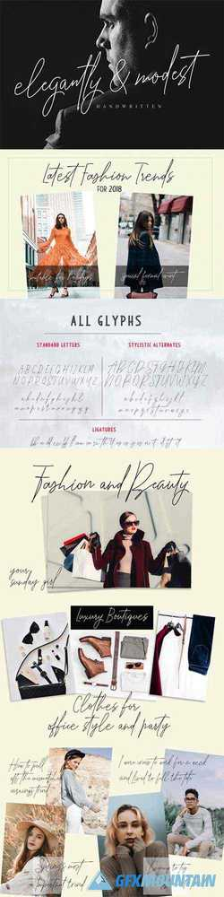 Elegantly and Modest Font Family