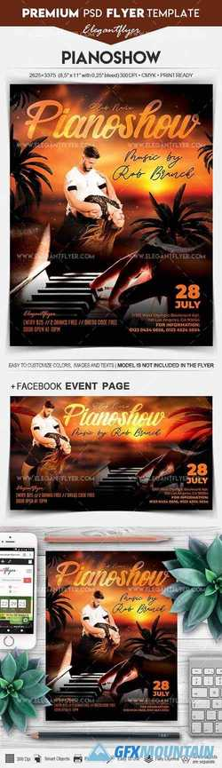 Pianoshow – Flyer PSD Template