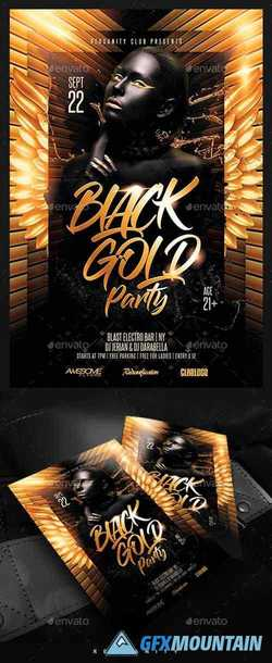 Black Gold Party Flyer 22384570