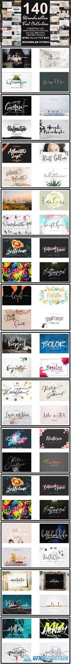 140 Handwritten Fonts Collection 2832715