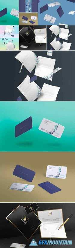 Gravity Business Card Mockups