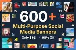 600+ MULTI-PURPOSE SOCIAL MEDIA BANNERS