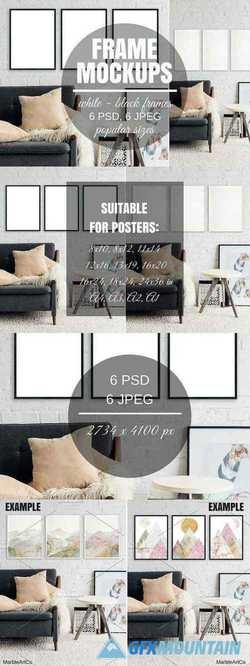 Picture Frame Set Of 3 Mockups 2709446