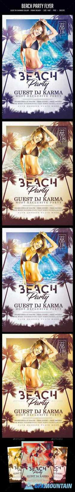 Beach Party Flyer 22541859