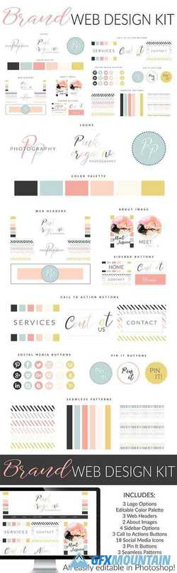 Web Branding Kit - Pink Perogative 2661802