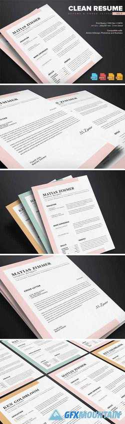 Clean Resume Template Vol.5 628694