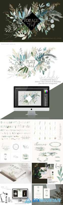 Foliage + Foil - Botanical Clipart 2923950