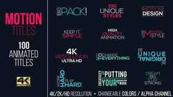 Motion Titles Pack 15383395