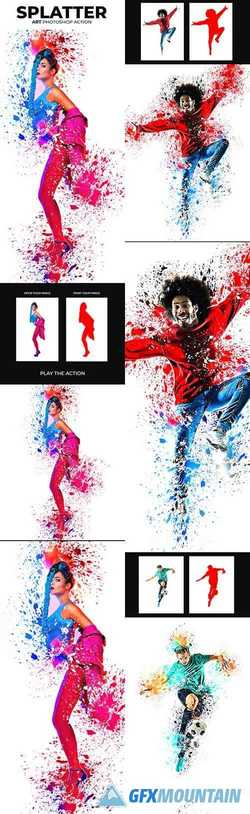 Splatter Art Photoshop Action 22499409