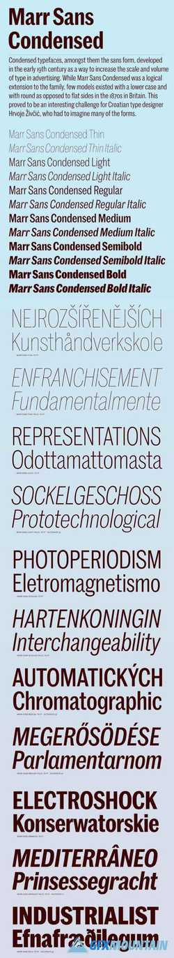Marr Sans Condensed Font Family