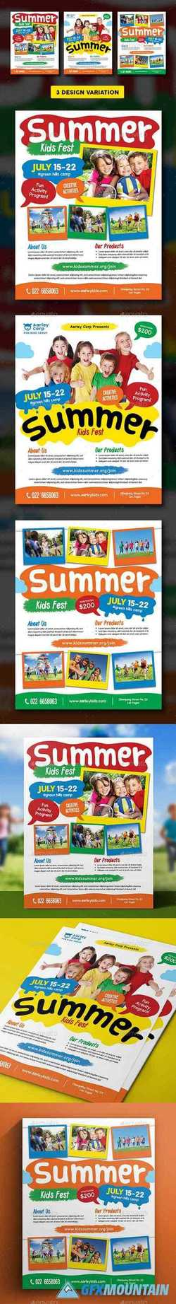 Kids Summer Camp Flyer 18118528 Free Download Graphics