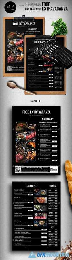 Multipurpose Extravaganza Single Page Menu - A4 & US Letter 22002738