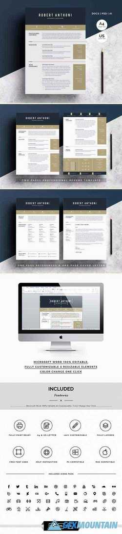 Word Resume Temlate | 4 Pages Pack 2735781
