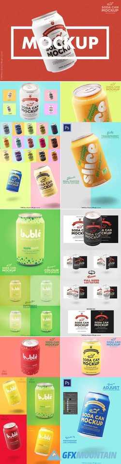 Tin soda can mockup branding designs 2954747