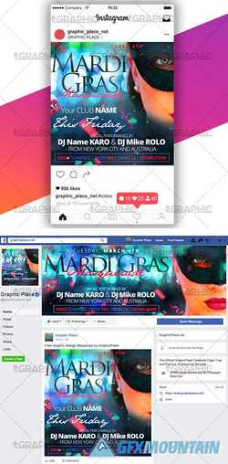 MARDI GRAS PARTY – SOCIAL MEDIA VIDEO TEMPLATE
