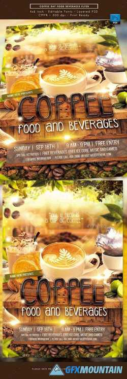 Coffee Day Food Beverages Flyer 22640310