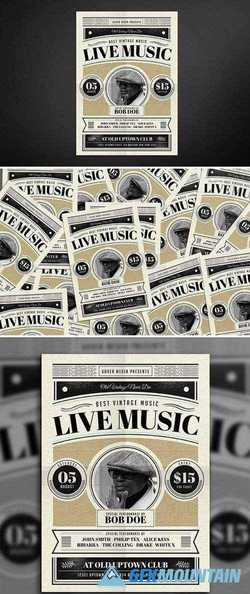Old Vintage Music Flyer 689429