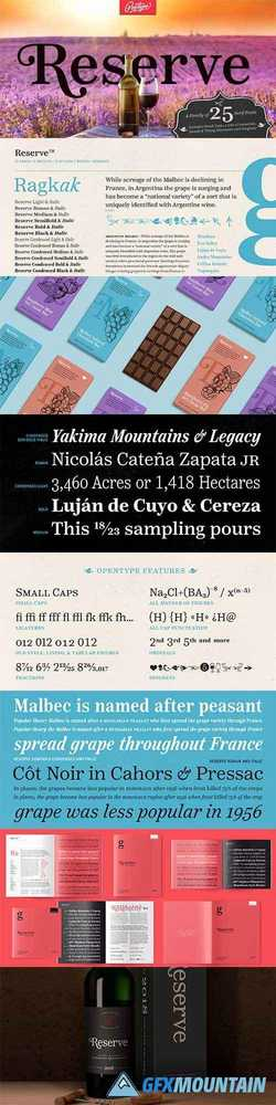 Reserve Font Family