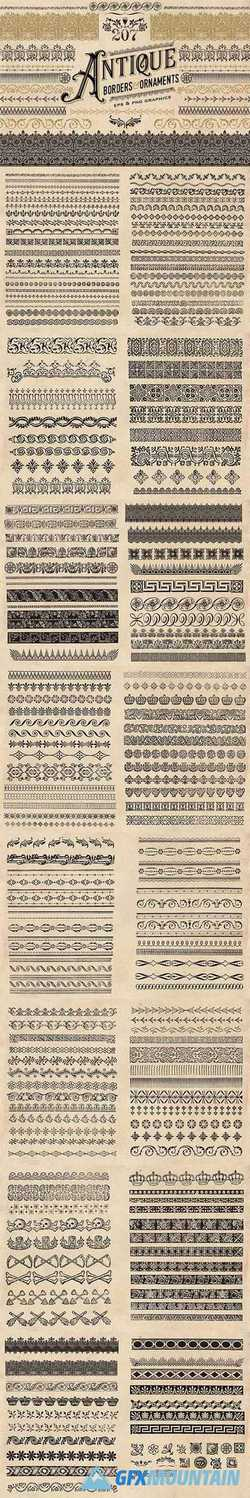 ANTIQUE BORDERS AND ORNAMENTS - 1580151