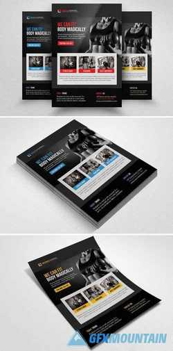 Body Fitness Club Flyer Template 1549146